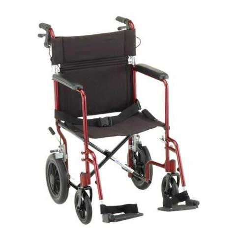 Lightweight Transport Chair with Hand Brakes