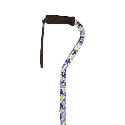 Offset Handle Aluminum Fashion Walking Cane