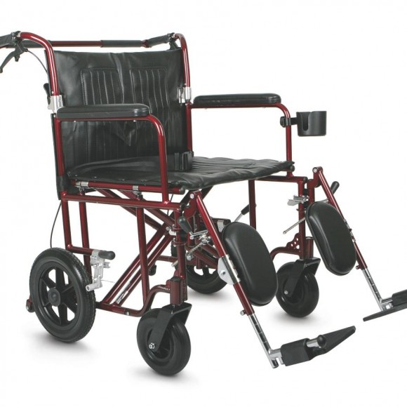 Bariatric Transport Chair,Red