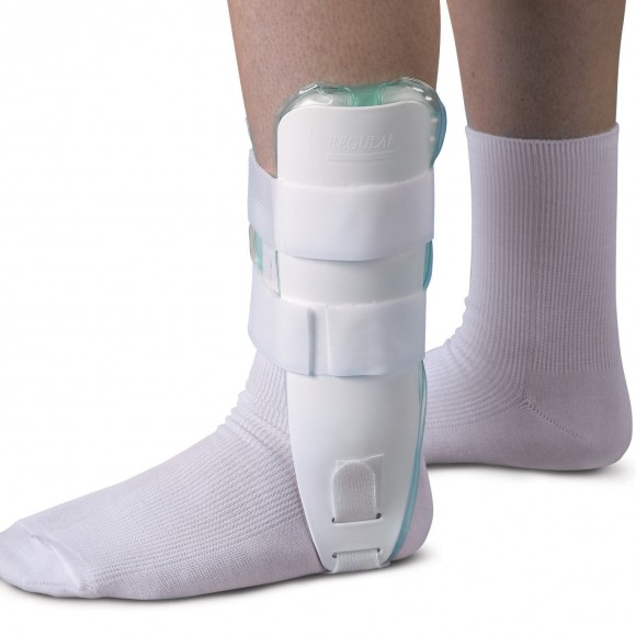 Air and Foam Stirrup  Ankle Splints,White,Universal