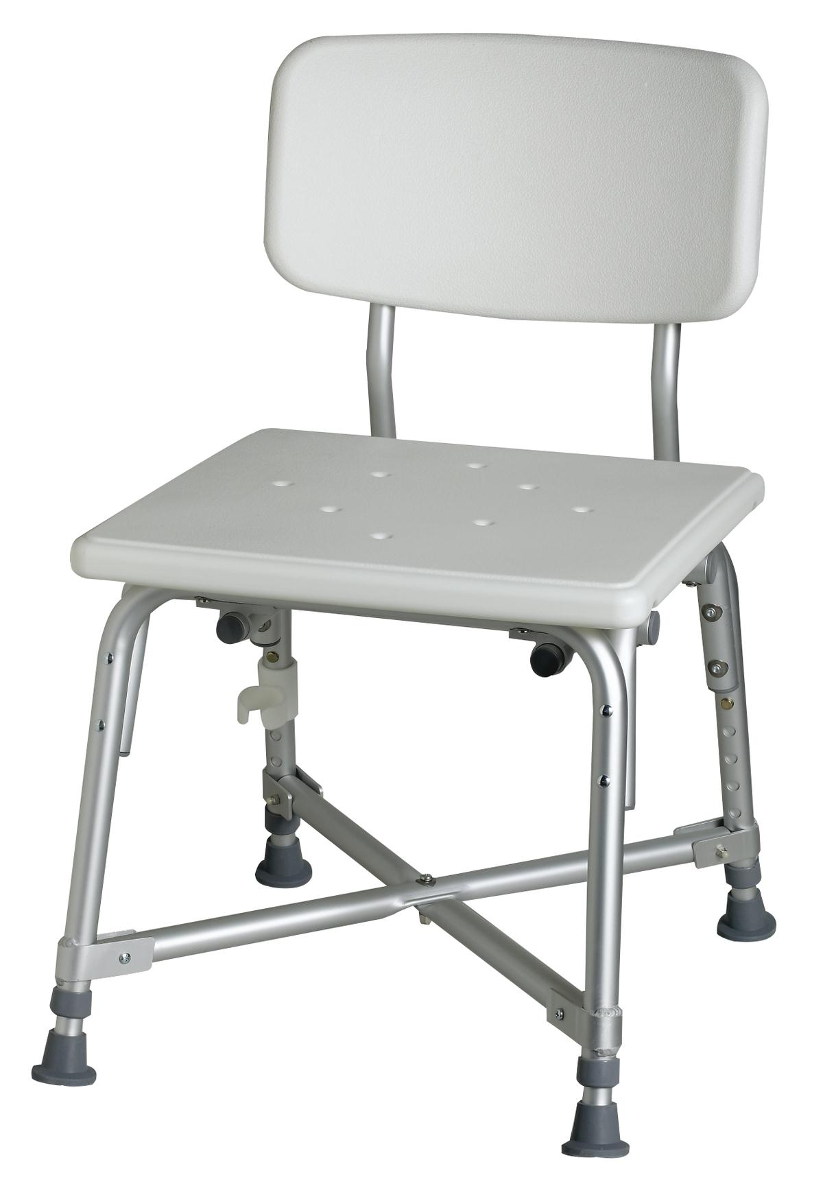 Bariatric Aluminum Bath Bench with Back - Careway Wellness Center