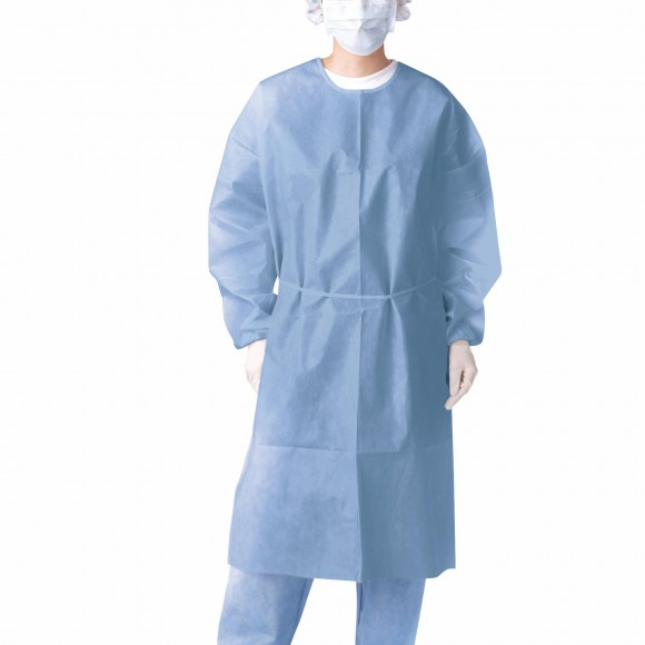 Closed Back Coated Propylene Isolation Gowns