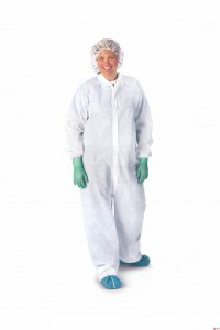 Heavyweight Spunbound Coveralls,White,X-Large