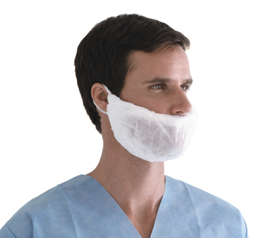 Beard Covers,White,One Size Fits Most