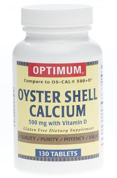 Oyster Shell Calcium with Vitamin D Tablets